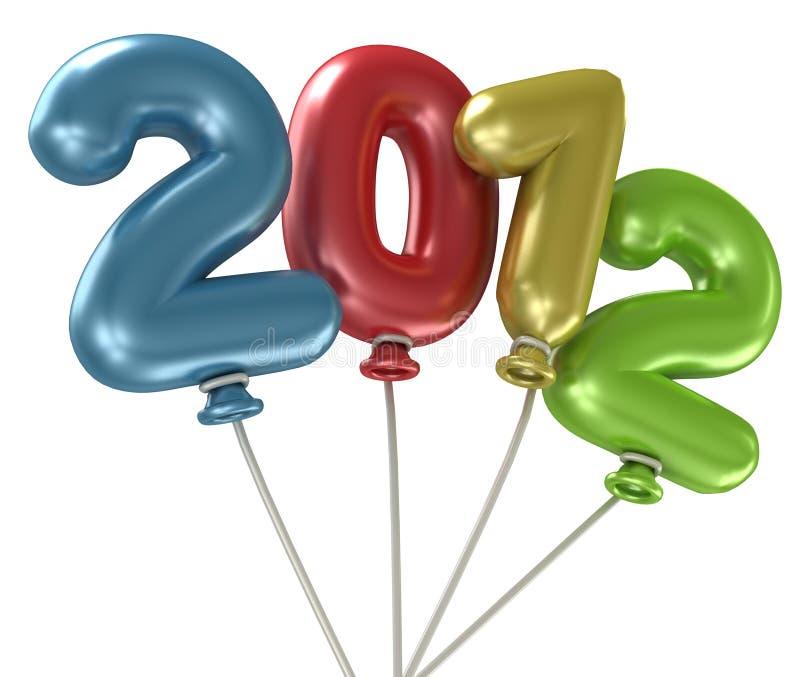 2012个气球年 皇族释放例证