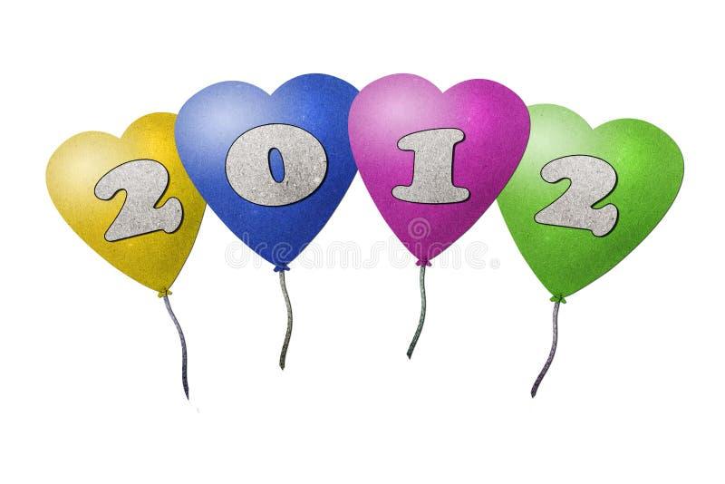 Download 2012个气球新年度 库存例证. 插画 包括有 背包, 查出, 生活, 艺术, 回收, 演奏台, 材料, 粉红色 - 22355273