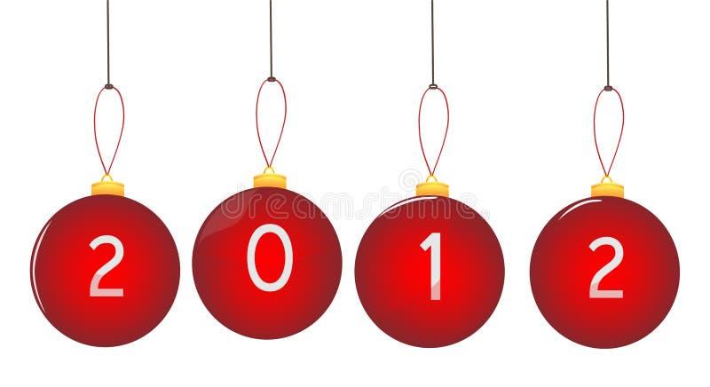 2012个球圣诞节 免版税图库摄影