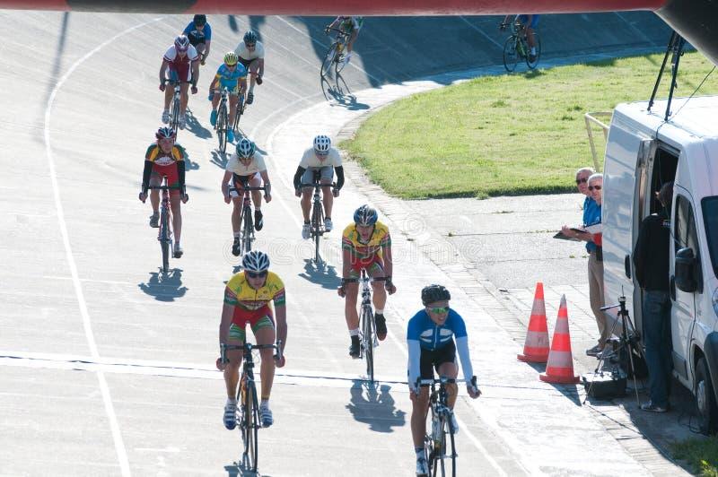 2012个自行车沙丘金黄klaipeda种族 免版税库存图片