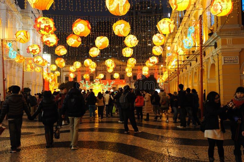 2012中国人春节在澳门 免版税库存照片