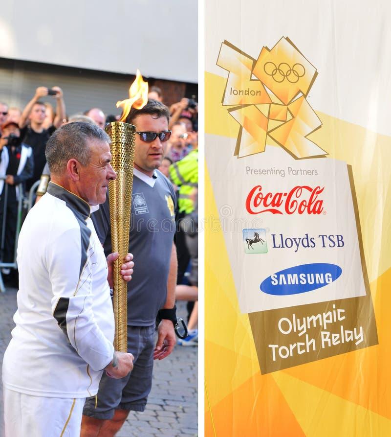2012年伦敦奥林匹克继电器火炬 图库摄影