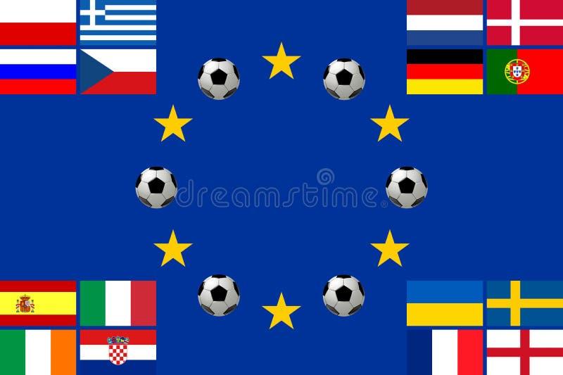 2012年冠军欧洲橄榄球 库存例证