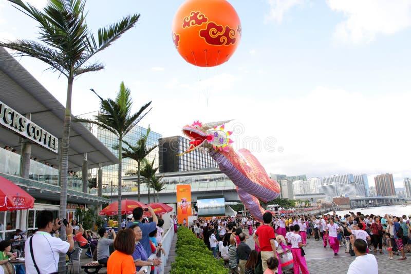 2012年小船狂欢节龙香港 免版税库存图片