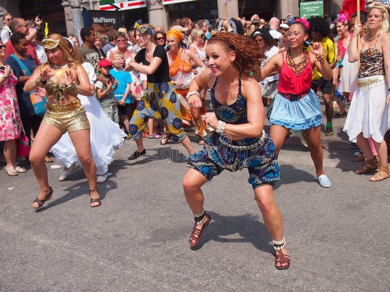2012年狂欢节哥本哈根参与者 免版税图库摄影