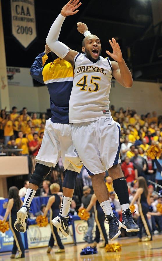 2012年篮球drexel jmu人ncaa s 库存照片