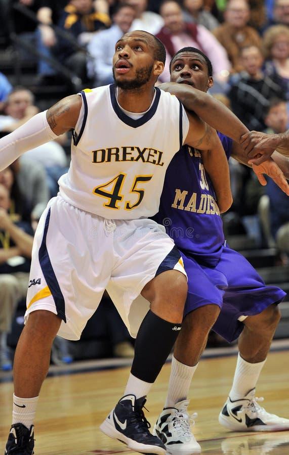 2012年篮球drexel jmu人ncaa s 免版税库存照片