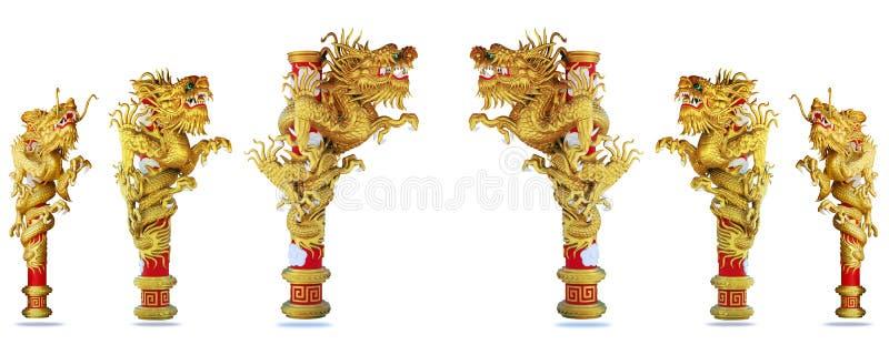 2012年背景中国龙金子样式 图库摄影