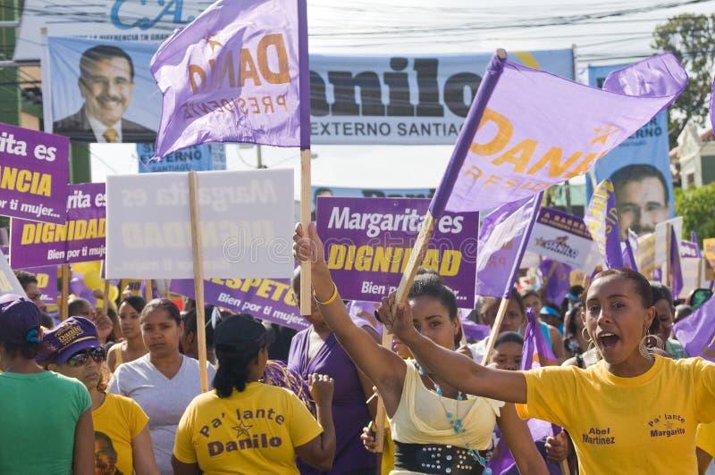 2012年campaing的多米尼加共和国的选择共和国 库存图片