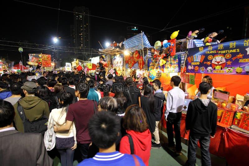 2012整整的香港月球新年度 免版税图库摄影