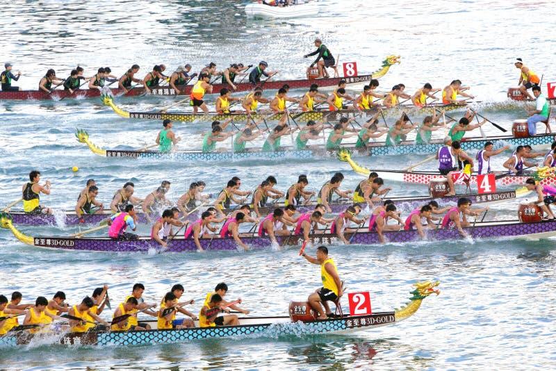 2012 łódkowatych smoka Hong int kong l rasy zdjęcie stock