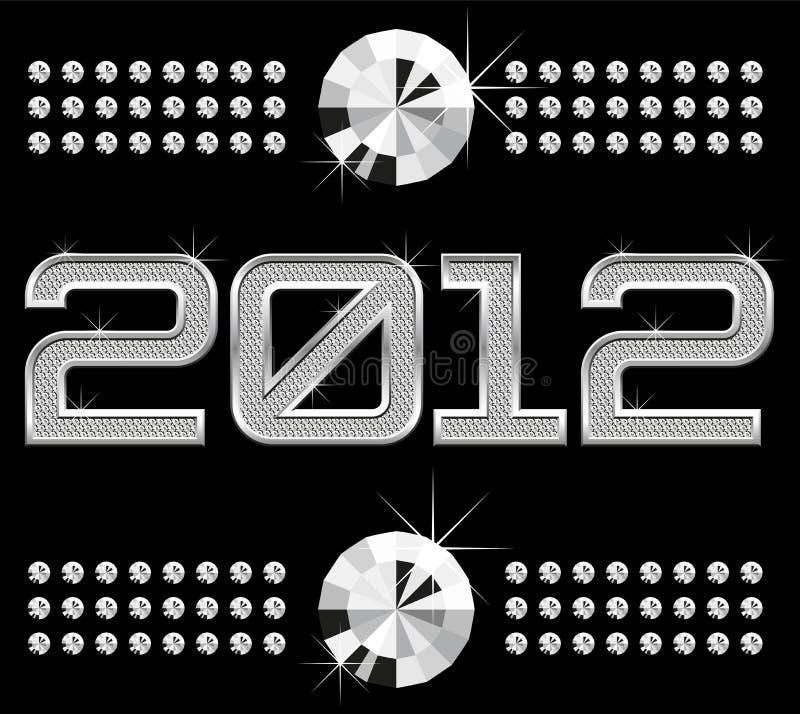 2012 αριθμοί διαμαντιών διανυσματική απεικόνιση