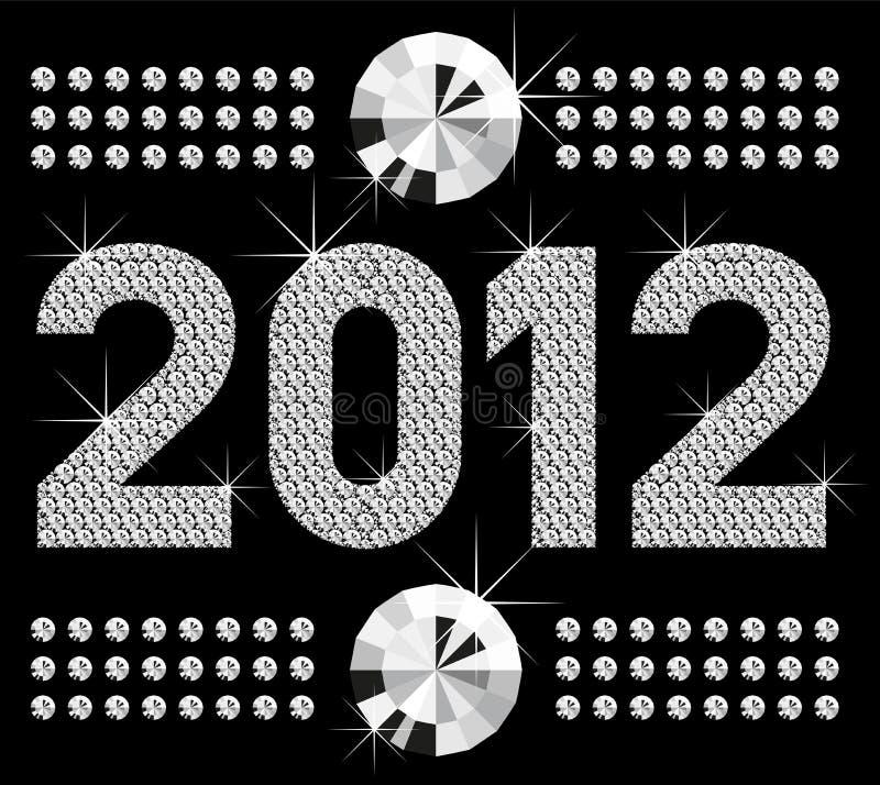 2012 αριθμοί διαμαντιών ελεύθερη απεικόνιση δικαιώματος