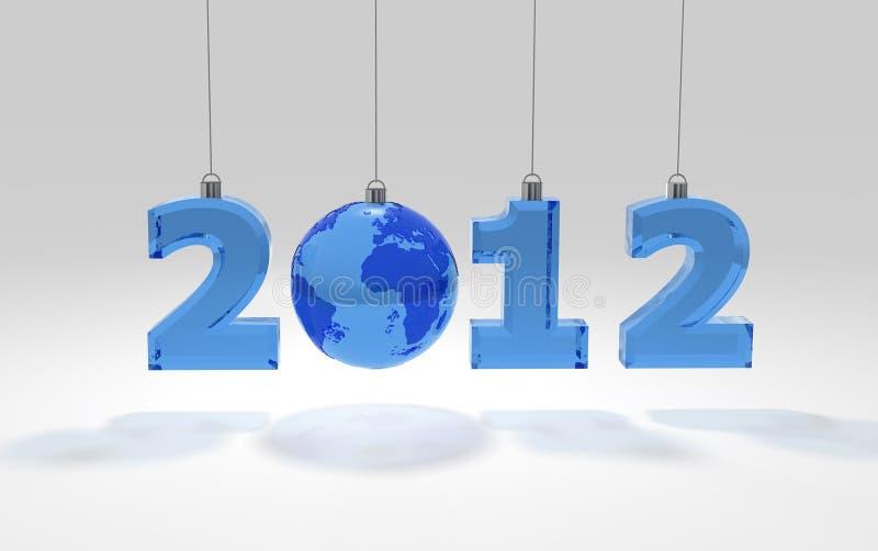 2012 μπλε επιστολές σφαιρών διανυσματική απεικόνιση