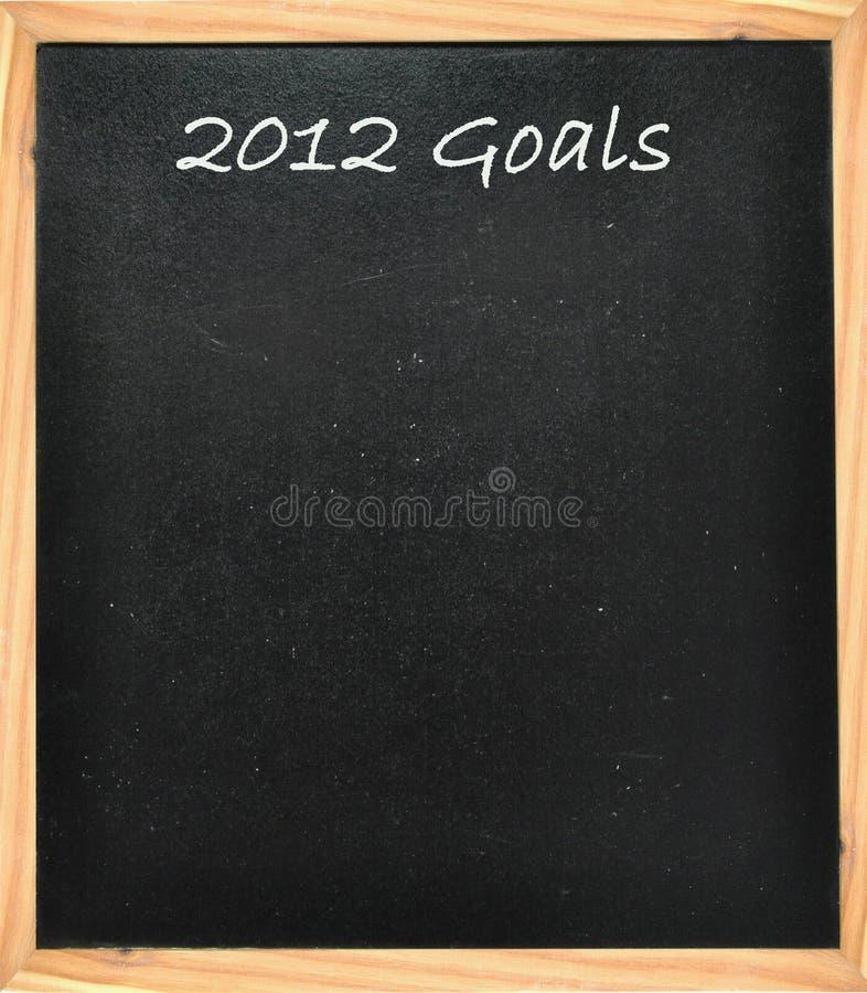 2012 στόχοι στοκ εικόνα