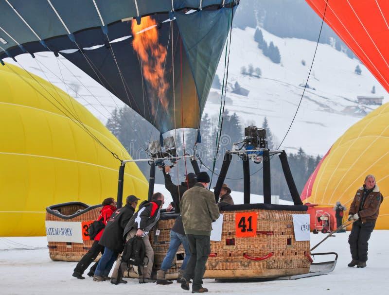2012 φεστιβάλ μπαλονιών ζεστού αέρα, Ελβετία στοκ εικόνες με δικαίωμα ελεύθερης χρήσης