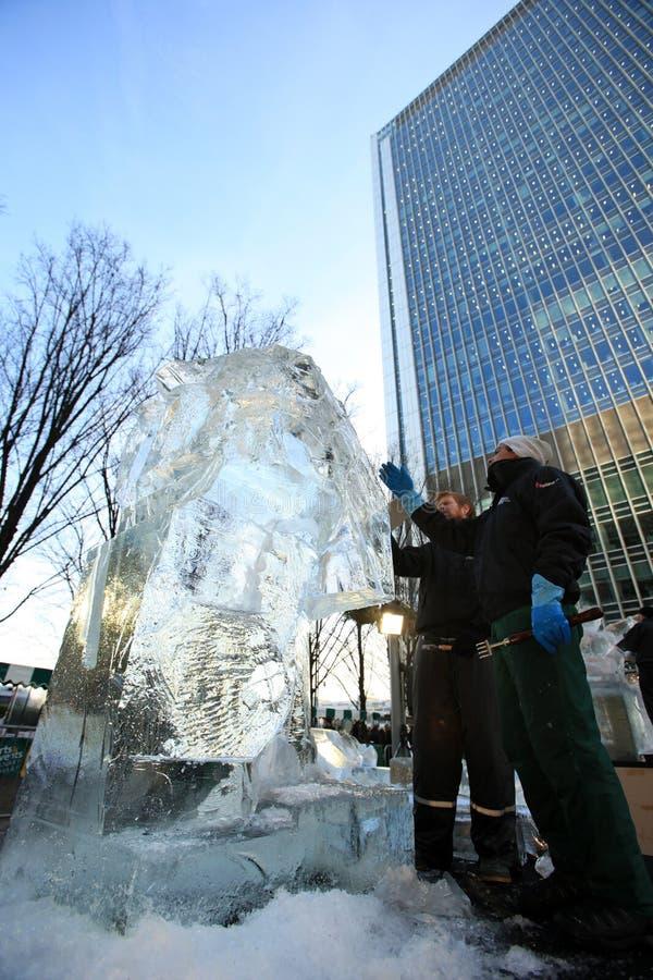 2012 ваять london льда празднества стоковые фотографии rf