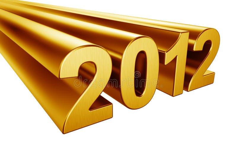 2012 в золоте стоковое фото rf
