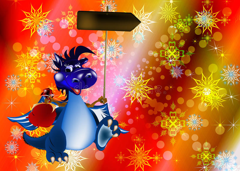 2012 года символа голубых темных дракона новых s бесплатная иллюстрация