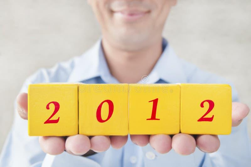 2012 для того чтобы приветствовать леты стоковая фотография