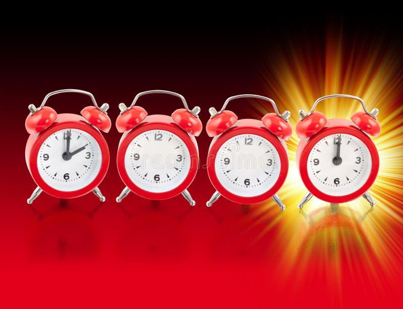 2012 часа красного иллюстрация штока
