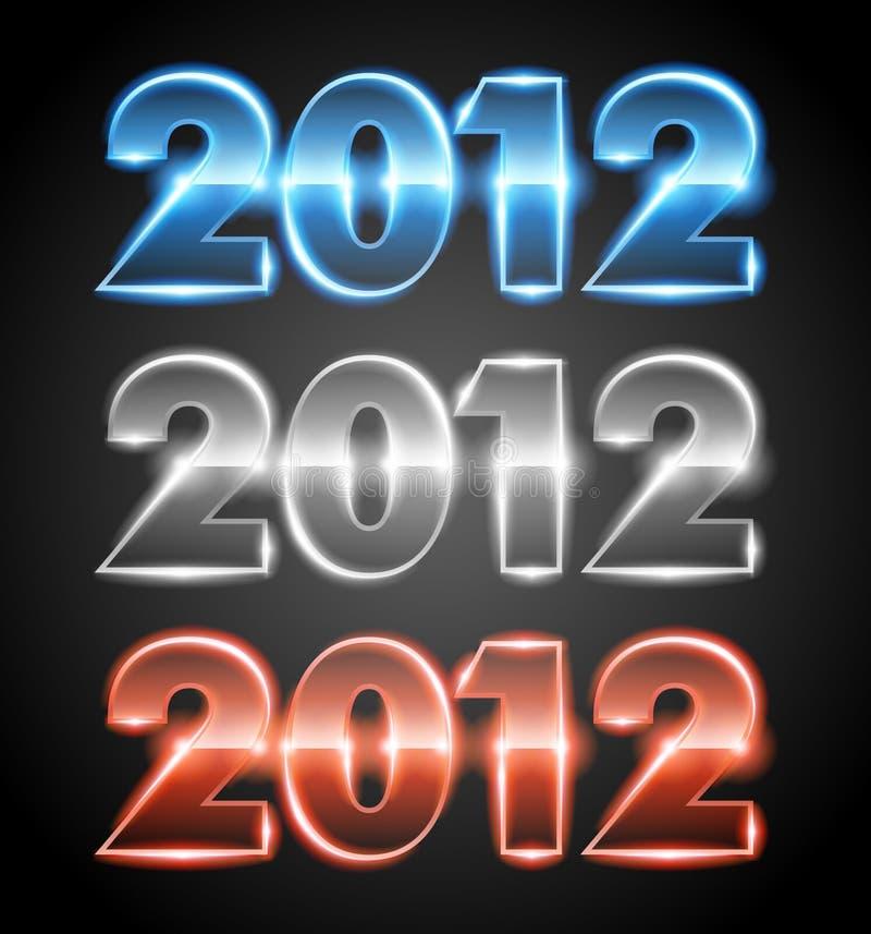 Download 2012 stock illustration. Image of blue, shiny, black - 21300758
