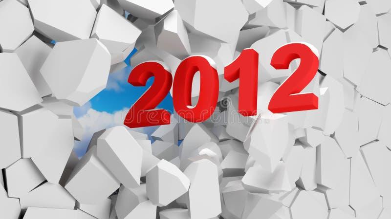 2012 Abstracte Achtergrond royalty-vrije illustratie