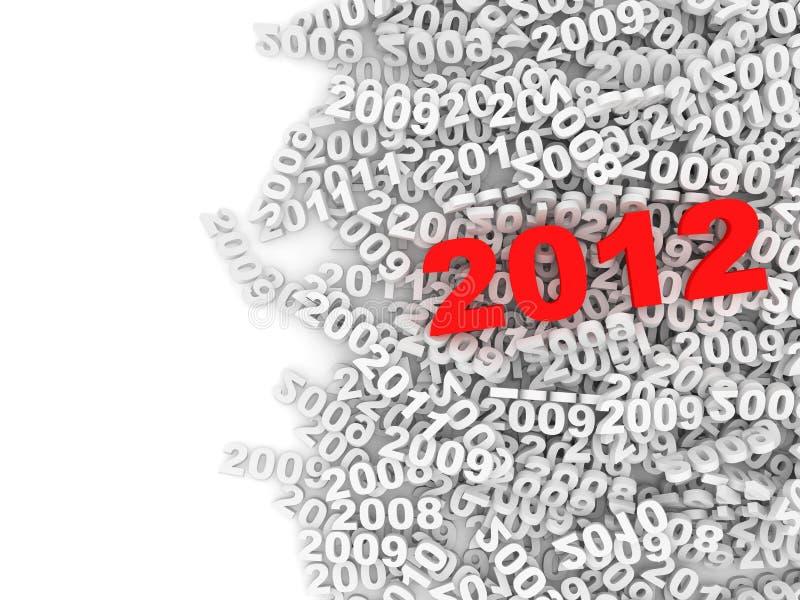 2012 abstrakcjonistycznego ilustracyjnego nowego roku ilustracja wektor