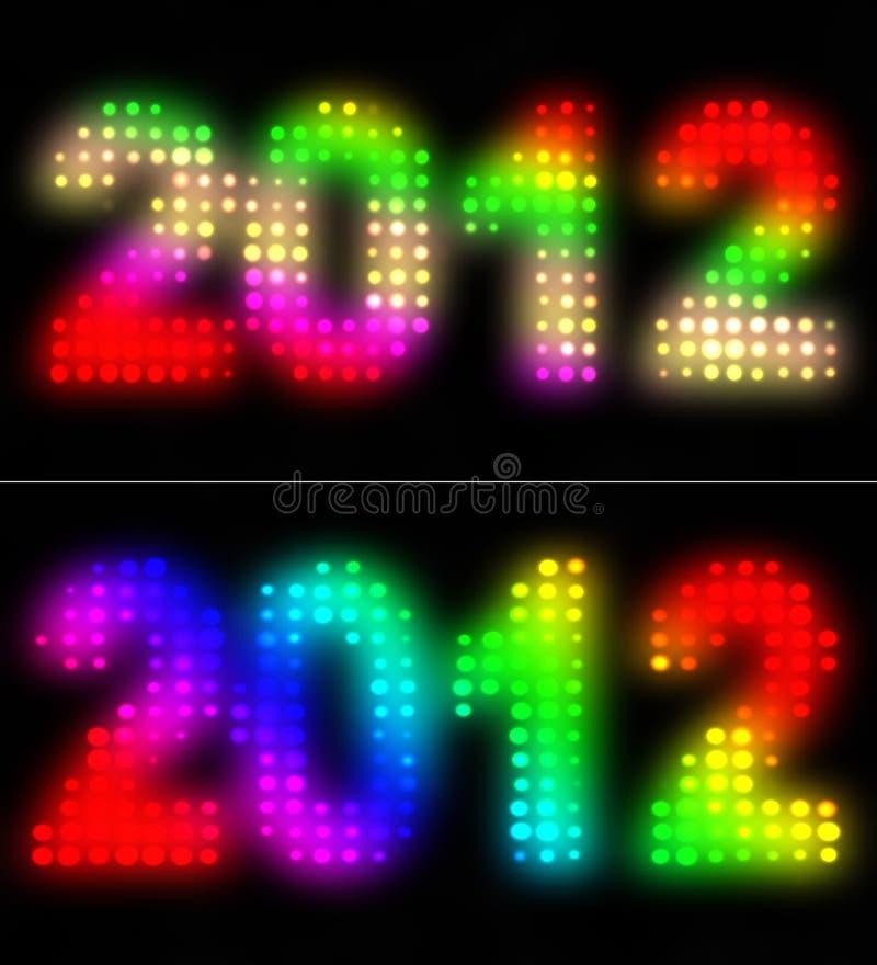 2012 anos ilustração stock