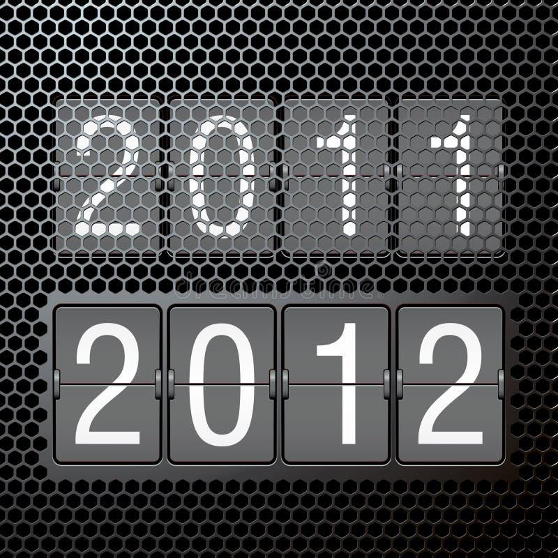 2012 anos novos no placar mecânico ilustração royalty free