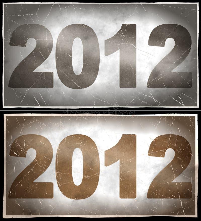 2012 ans illustration libre de droits