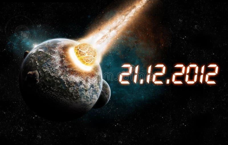 2012 ans de l'apocalypse illustration de vecteur