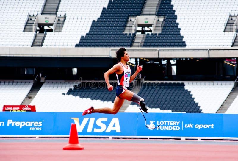 2012 atlety niepełnosprawny London działający stadium obrazy royalty free