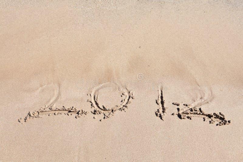 2012 on the beach.