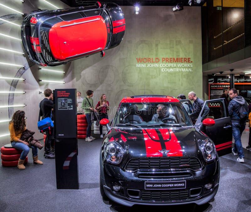2012 bednarza Geneva John mini motorshow pracy obraz stock