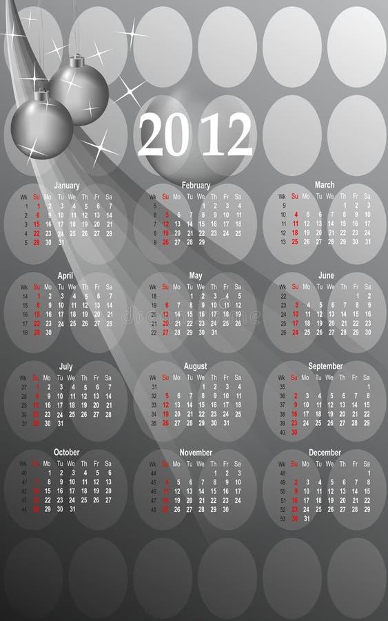 Download 2012 Business Style Calendar, Cdr Vector Stock Vector - Image: 19943019