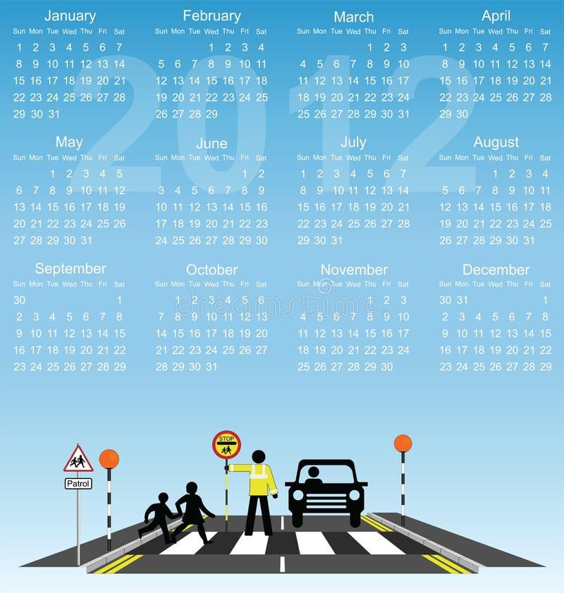 Download 2012 calendar stock vector. Image of december, school - 19225460