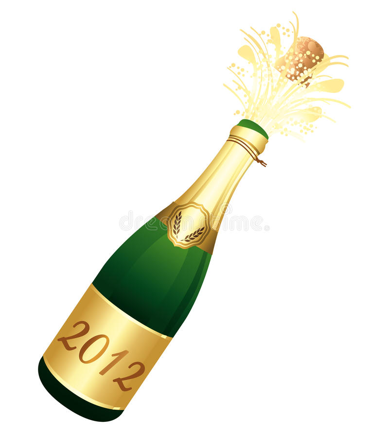 Download 2012 Champagne bottle stock vector. Image of champaign - 21098692
