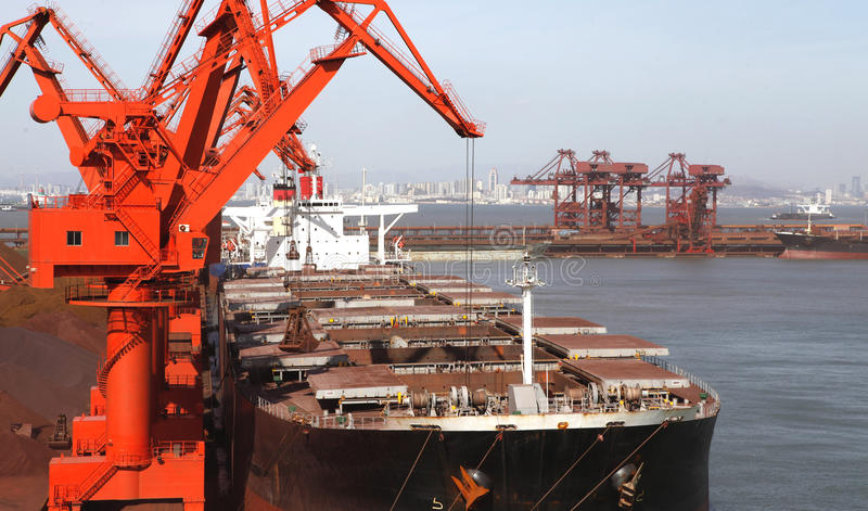 In 2012, Chinas decline in demand for iron ore stock photo