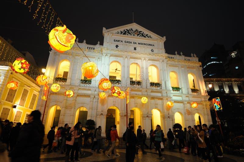 2012 chinesisches neues Jahr in Macau stockbilder