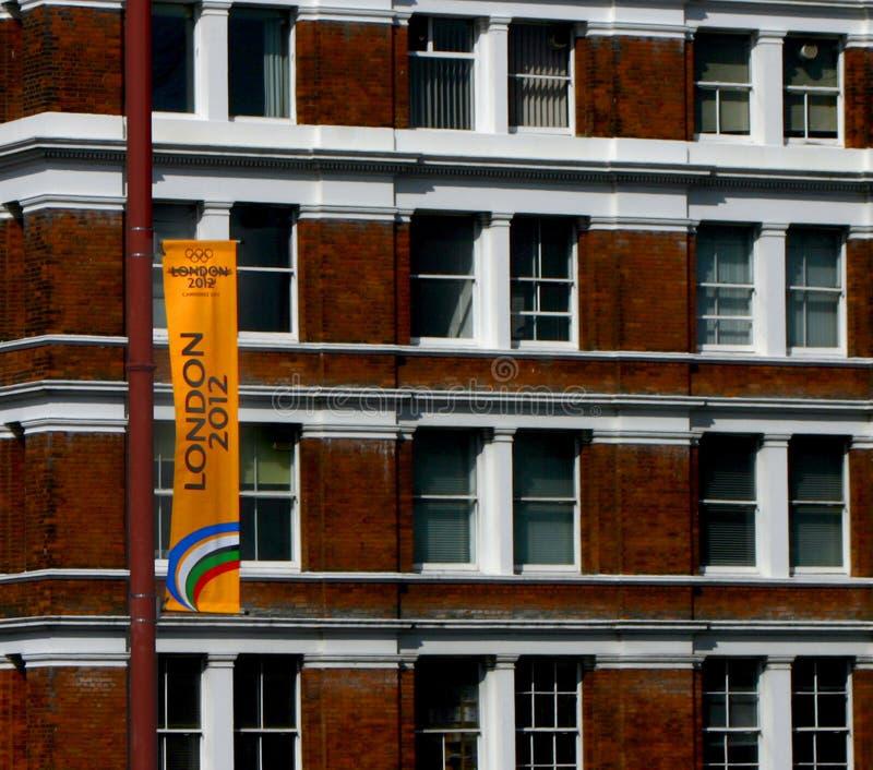 2012 chorągwianej gry London olimpijski fotografia royalty free