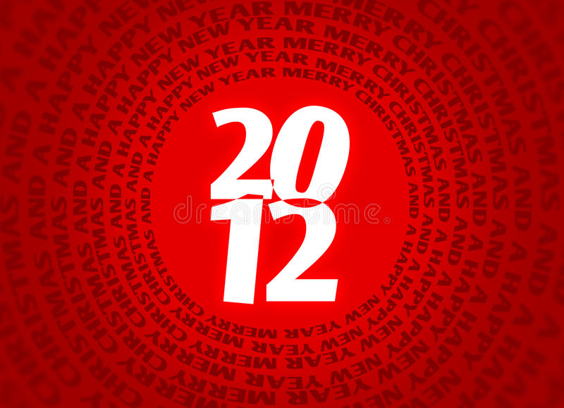 Download 2012 christmas logo stock illustration. Image of year - 22295718