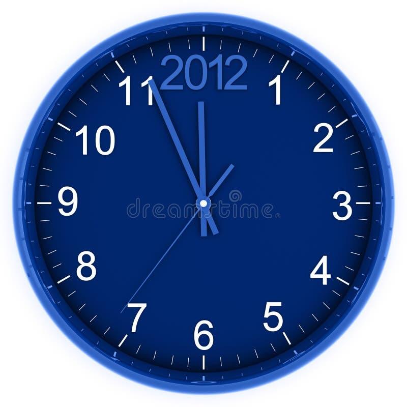 Download 2012 on clock stock illustration. Illustration of seconds - 23949189
