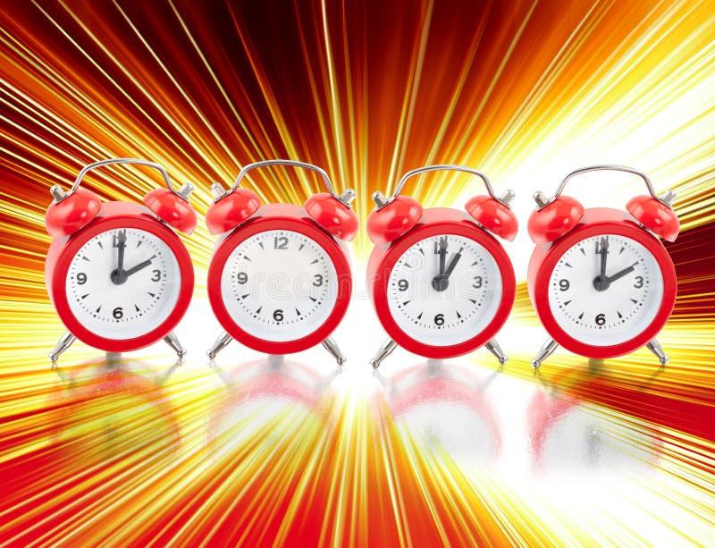 2012 With Clocks Stock Photo