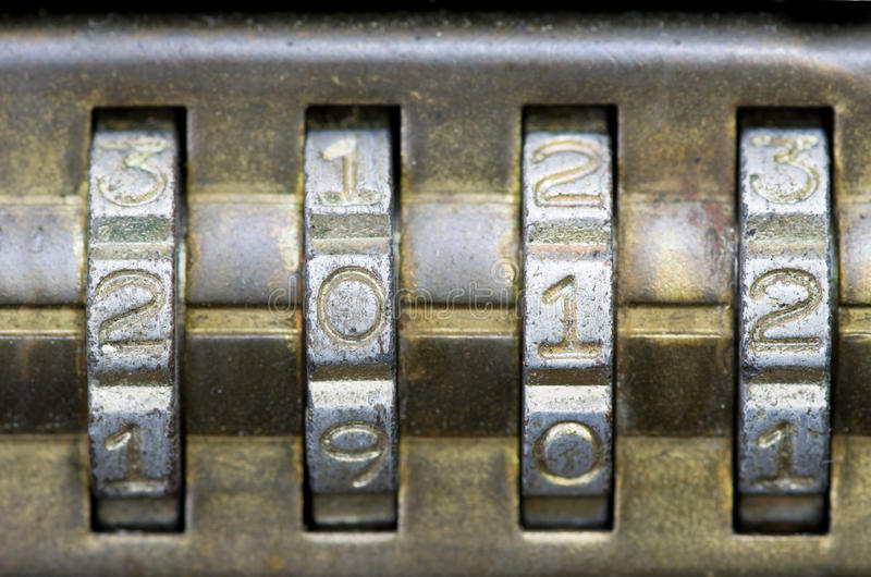 Download 2012 On Combination Lock Stock Photos - Image: 22790633