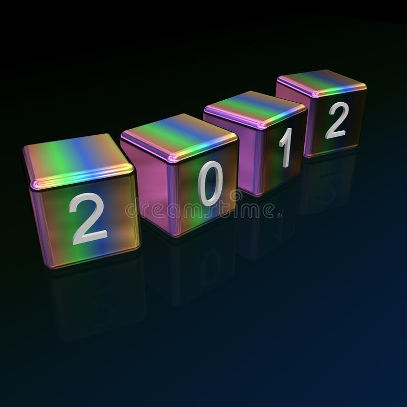 Download 2012 cubes stock illustration. Image of snow, calendar - 21730275