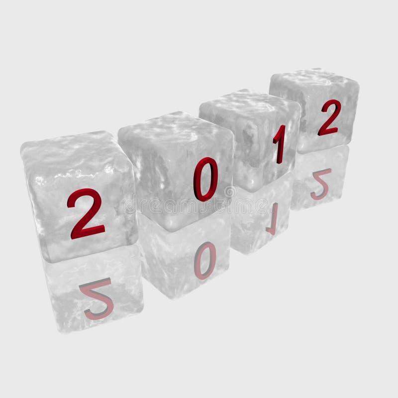 2012 cubi illustrazione di stock