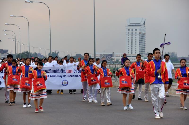 2012 Día Mundial del Sida, Vientián, Laos imagen de archivo libre de regalías