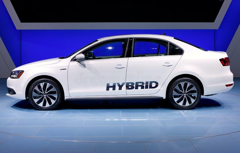 2012 de Hybride van Volkswagen Jetta stock afbeeldingen