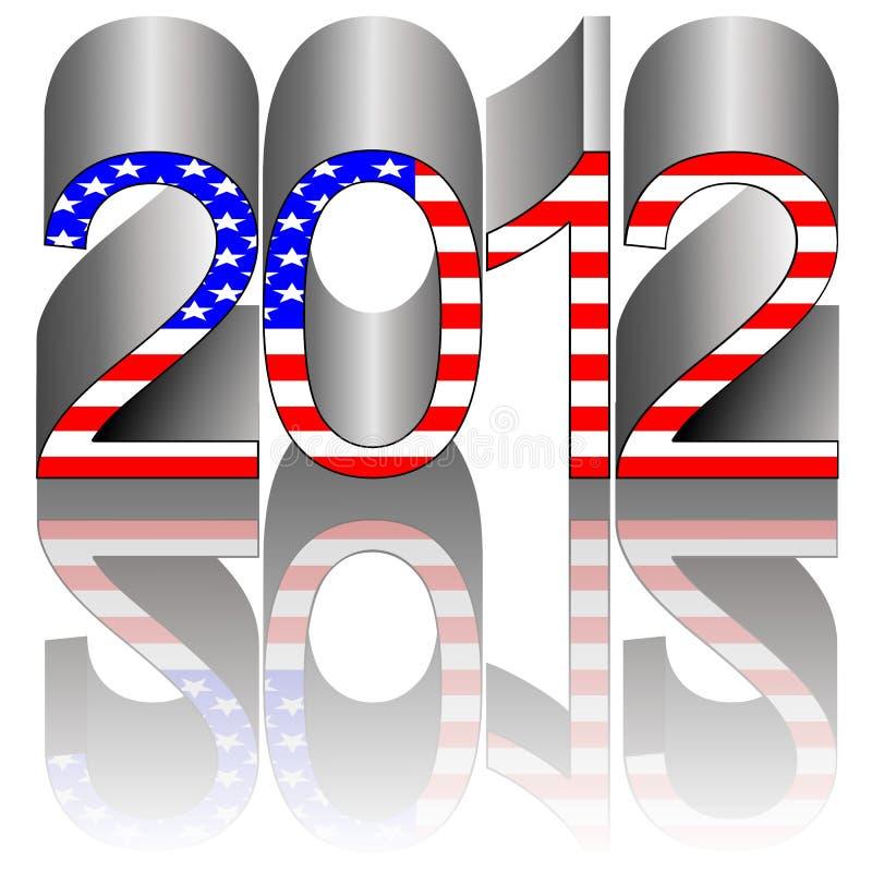 2012 de verkiezing van de V.S. royalty-vrije illustratie